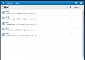 Online file cabinet snip